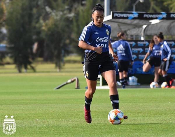 Yael Oviedo durante un entrenamiento | Fotografía: Selección Argentina