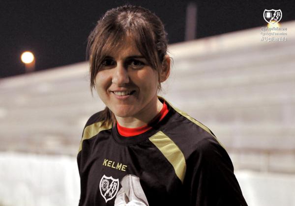 Alicia Gómez durante un entrenamiento | Fotografía: Rayo Vallecano S.A.D.