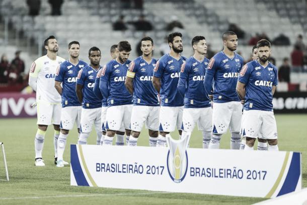 Cruzeiro x Atlético - PR marcou o segundo jogo seguido como titular do baiano de 20 anos (Foto: Geraldo Bubanik\ Ligh Press)