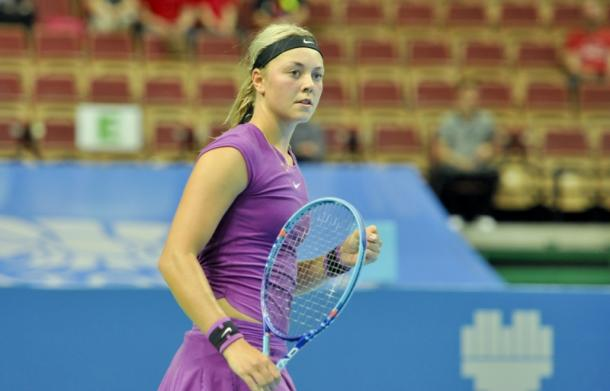 Carina Witthoeft Took The First Set. Photo: Katowice Open Website