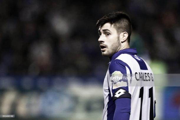 Carles Gil vistiendo la camiseta del Deportivo/ Fuente: Getty images