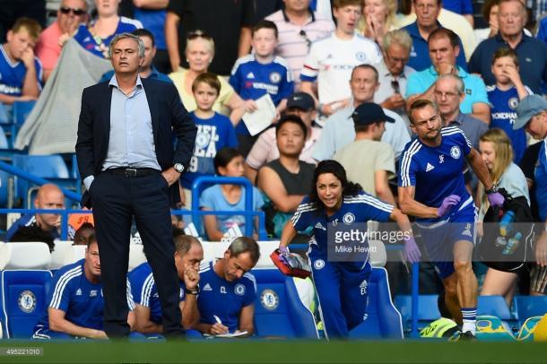 Former Chelsea boss Jose Mourinho was taken to court by club doctor Eva Carneiro | Photo: Getty/ Mike Hewitt