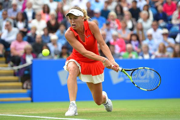 Wozniacki was unable to break Pliskova's serve in the match (Photo by Mike Hewitt / Getty)