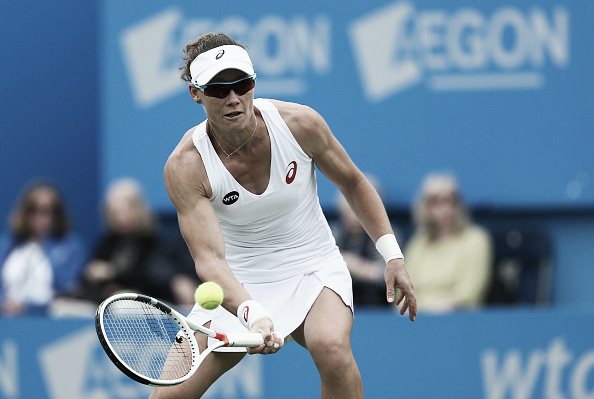 Caroline Wozniacki had little trouble with Sam Stosur in Eastbourne. (Photo: Getty Images)