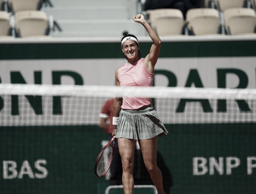 Caroline Garcia, una de las clasificadas a segunda ronda @rolandgarros