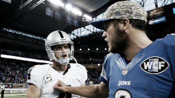 Stafford ha superado a Carr como jugador mejor pagado en la NFL.   Foto: USA Today