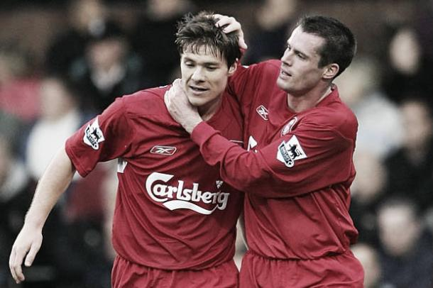 Carragher listed Xabi Alonso as one the best players he has played with. (image: daily star)