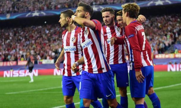 Ferreira Carrasco in festa dopo il gol vittoria ai danni di un'altra tedesca, il Bayern Monaco. Fonte foto: calciomercato.com