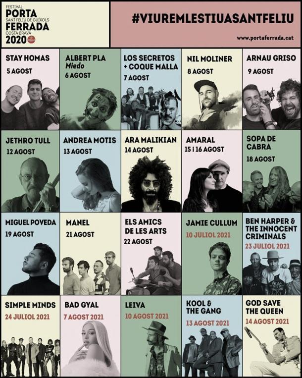 cartel festival porta ferrada 2020 // fuente: Porta Ferrada