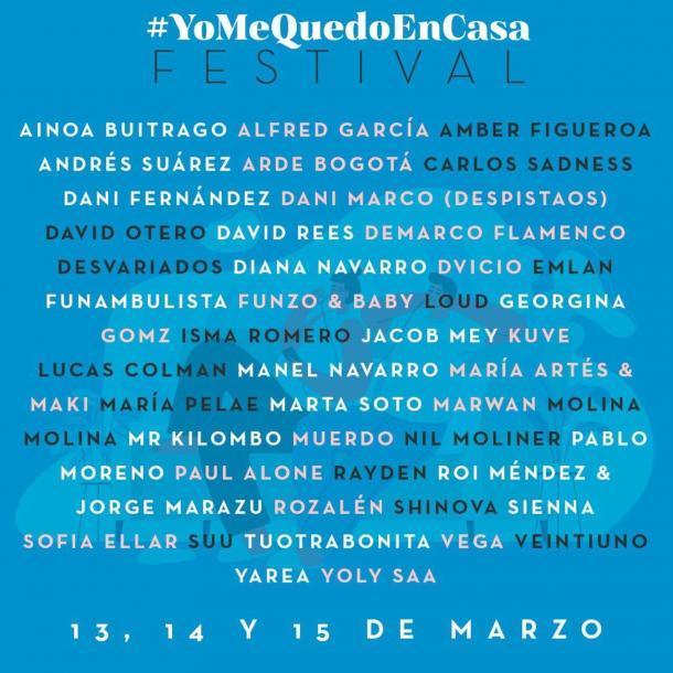 Cartel de la primera edición del YoMeQuedoEnCasa Festival