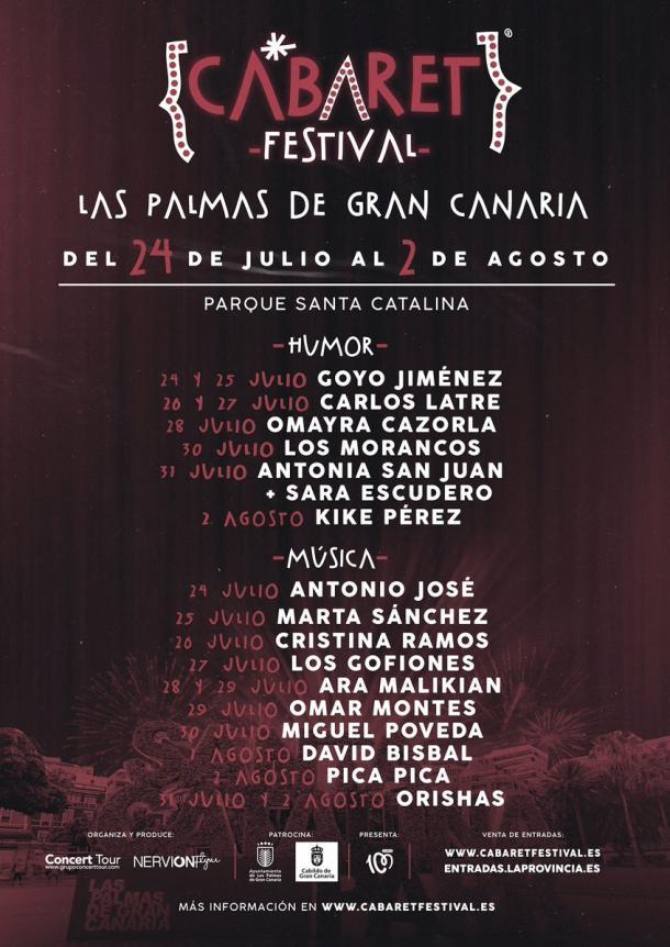 Cartel Cabaret festival Las Palmas // fuente: cabaret festival (instagram)