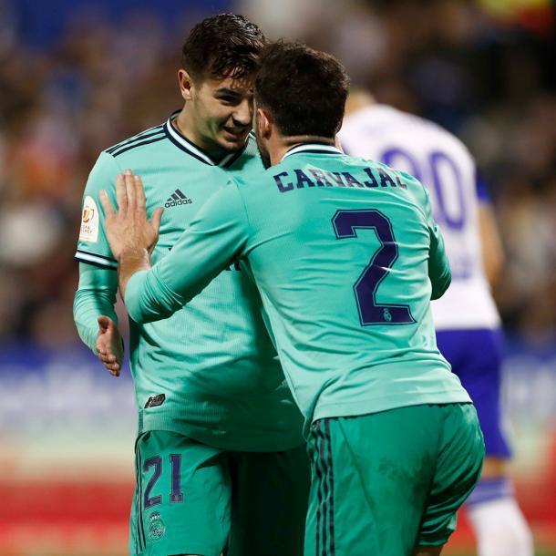 Carvajal y Brahim | Foto: @realmadrid