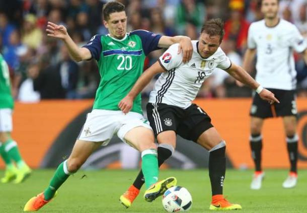 The defender battles with Mario Gotze during Euro 2016 (photo: goal)
