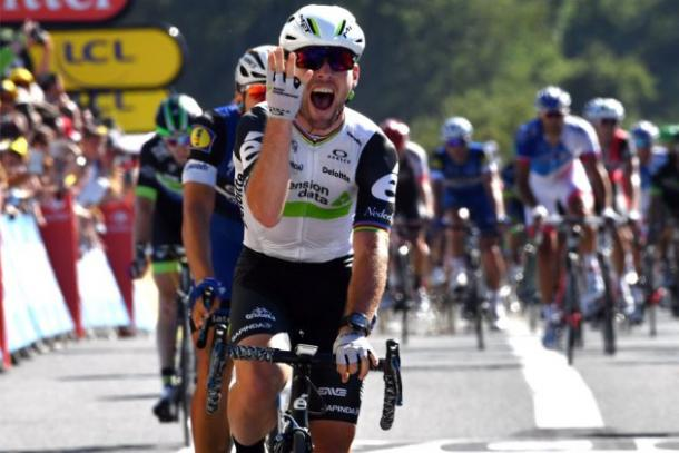 Cav celebrating his fourth win at this year's Tour / Cycling Weekly