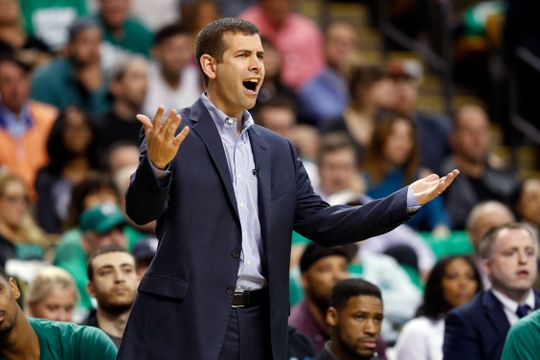 Boston Celtics head coach Brad Stevens looks on from the sidelines. Photo:Greg M. Cooper-USA TODAY Sports