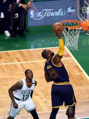 Cleveland Cavaliers forward LeBron James (23) attacks the rim. Photo:Bob DeChiara-USA TODAY Sports