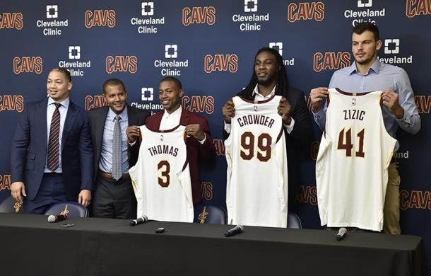 The Cavaliers received Isaiah Thomas, Jae Crowder, and Ante Zizic in the Kyrie Irving trade. Photo: David Liam Kyle/NBAE/Getty Images