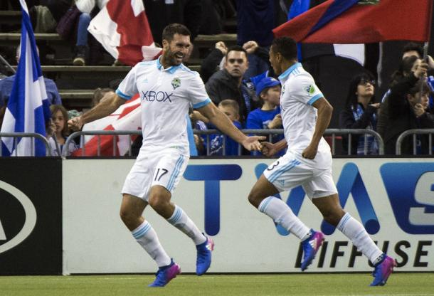 Will Bruin was the hero for Seattle against Montreal | Source: Graham Hughes/AP