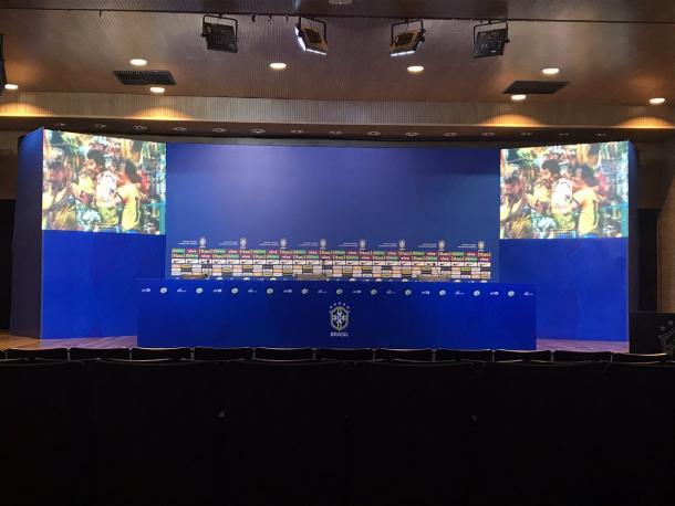 Sala de imprensa. (Foto: Bárbara Mendonça)