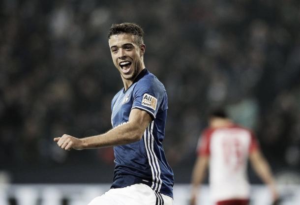 Franco Di Santo celebrando un gol | Fotografía: Schalke 04