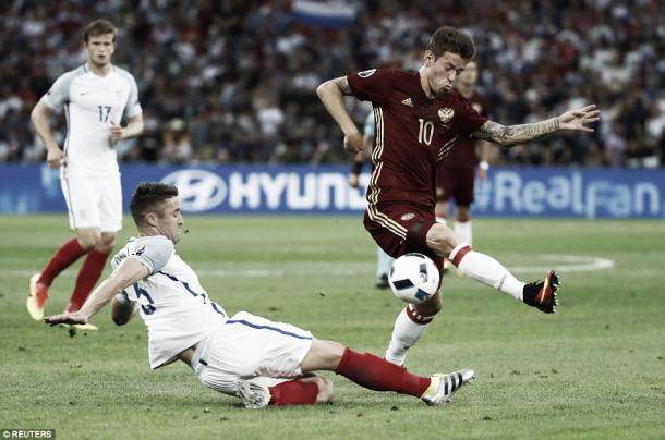 Russia were virtually out of the match in the first hour l Photo: DailyMail.co.uk