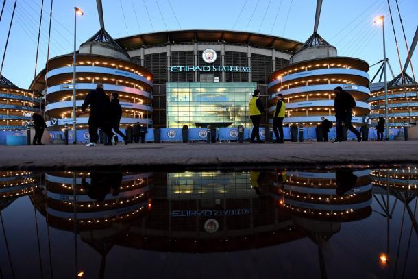 Veduta esterna dell'Etihad Stadium. | Fonte: twitter.com/Everton