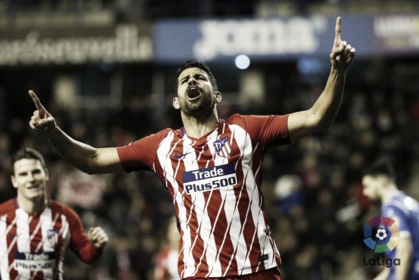 Euforia de Diego Costa tras su gol | LFP
