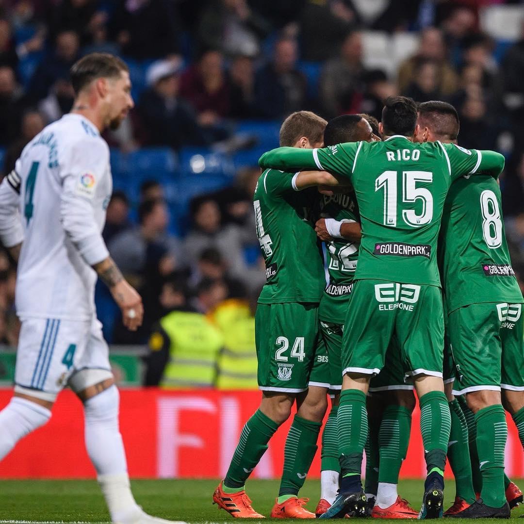 El Leganés celebra el gol que le daría el pase a semifinales de la Copa del Rey. |Foto: @cdleganes