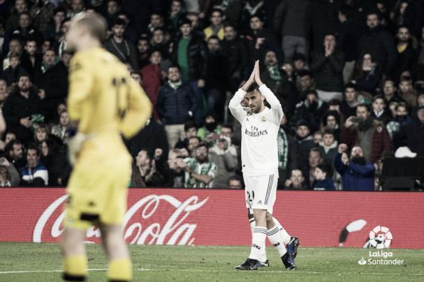 Dani Ceballos anotó el tanto del triunfo blanco en el Villamarín / Foto: LaLiga
