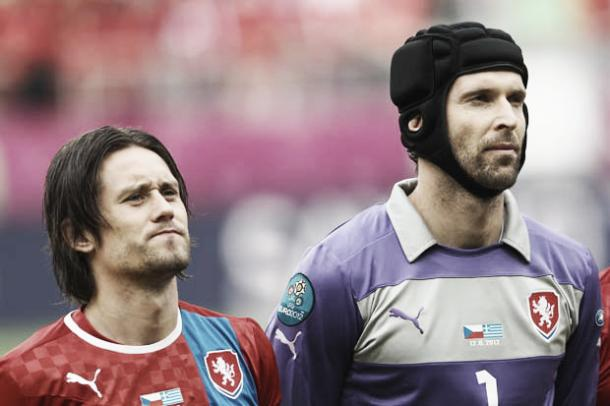 Cech and Rosicky will be bringing experience to the side. Photo- DailyMail.com