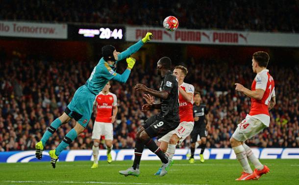 Cech, assoluto protagonista dello scorso Arsenal - Liverpool. Fonte foto: telegraph.co.uk