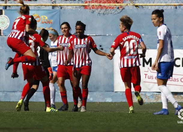Las pupilas de Sánchez Vera celebrando un gol. Foto: LaLiga