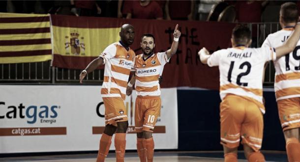El equipo cartagenero celebra un gol | Foto: LNFS