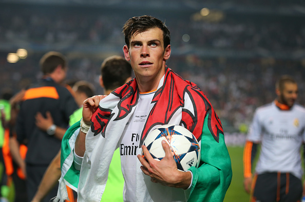 Gareth Bale celebrates winning the Champions League in 2014 | Photo: Matthew Ashton/Getty Images