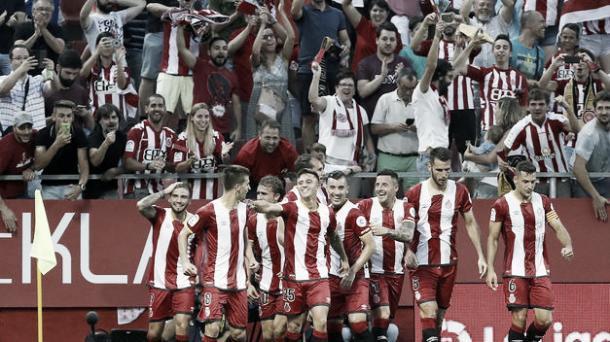 Jugadores del Girona celebrando un gol | Foto: Getty