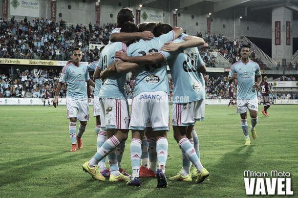 El Celta de Vigo celebra un gol en Balaídos | Foto: VAVEL