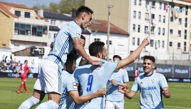 El Celta B durante un partido. | Imagen: www.celtavigo.net