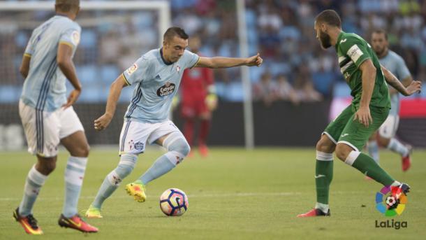 Enfrentamiento entre Celta y Leganés la pasada temporada   Foto: LaLiga