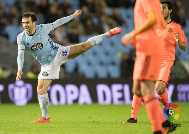 Giuseppe Rossi, che ha appena scagliato il destro dell'1-0 | Laliga.es