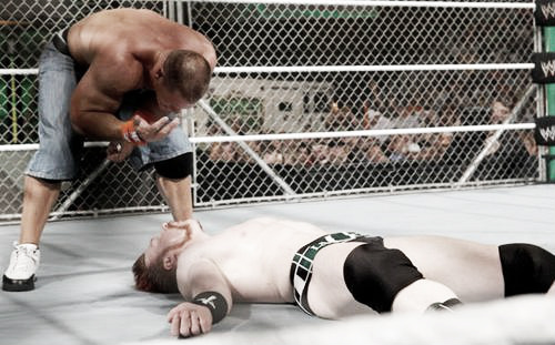 This was a typical steel cage match. Photo- Bleacher Report