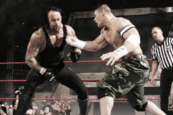 Will we ever see the long awaited Undertaker vs Cena match at WrestleMania? (image: camelclutchblog)