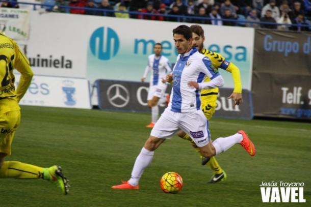 Soriano con el Leganés frente al Oviedo | Foto: Jesús Troyano - VAVEL