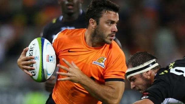 Martin Landajo scored two tries in the Jaguares debut victory (image via: foxsports.com.au)