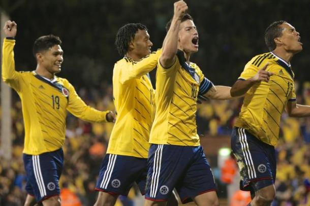 The Colombian attack will be looking to kick start the tournament with a big victory over the host nation on Friday at Levi's Stadium. Photo provided by AP.