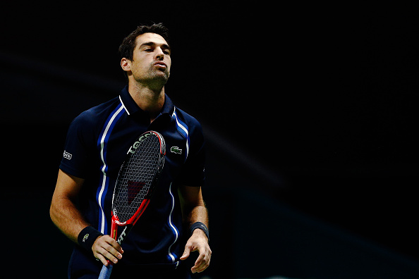 It was a frustrating day for Jeremy Chardy - (Photo: Getty Images - Dean Mouhtaropoulos)