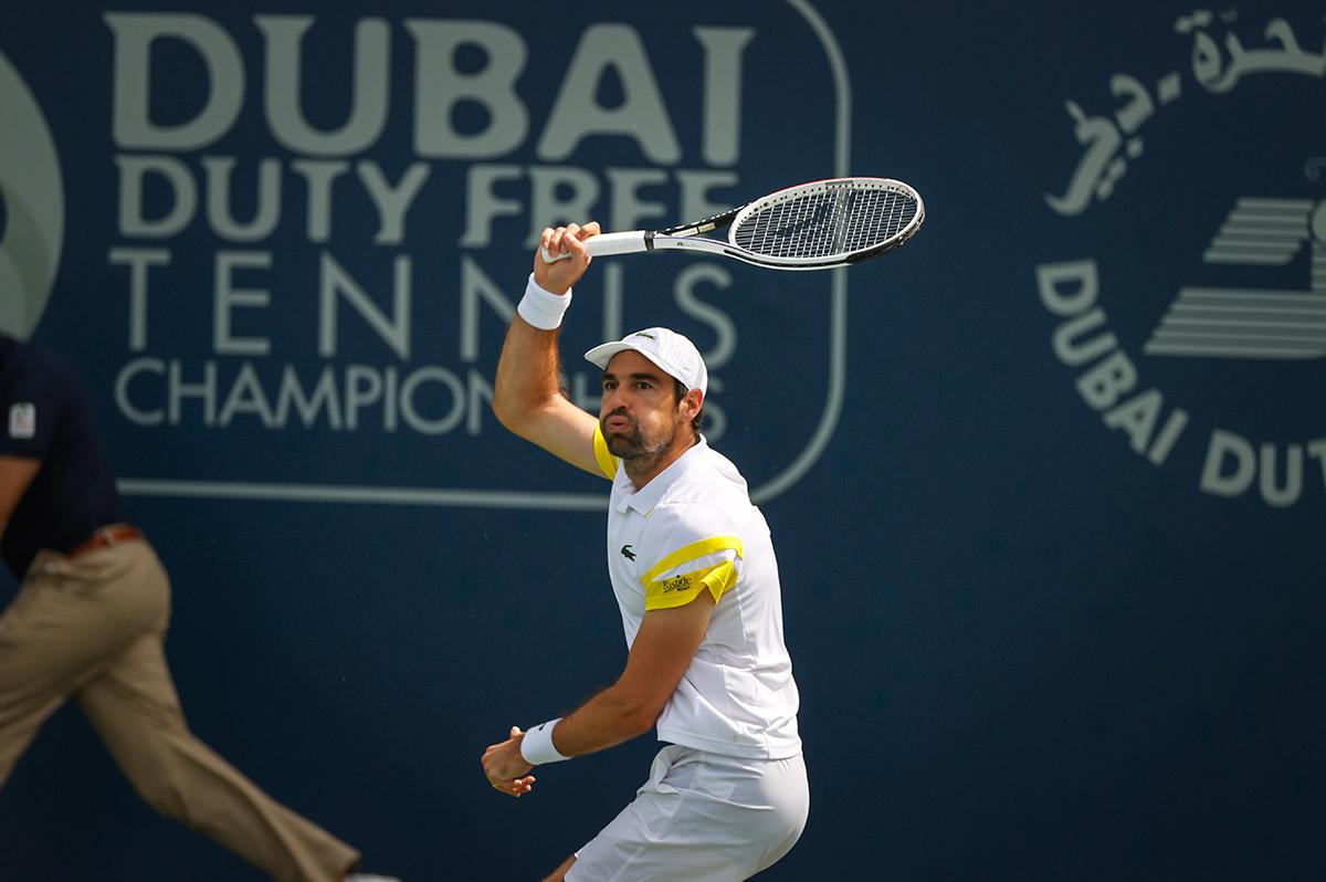 Chardy venceu sua 11ª partida em chaves principais no ano (Foto: Dubai Tennis Championships)