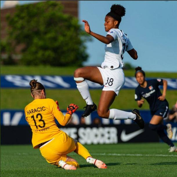 Simone Charley had a breakout game in her NWSL debut last weekend. | Photo: isiphotos.com