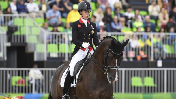 Dujardin recorded her third highest score ever in Rio. | Photo: Getty Images