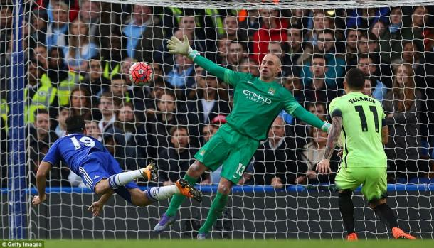 Diego Costa scored as Chelsea put five past City last Sunday (photo: Getty Images)