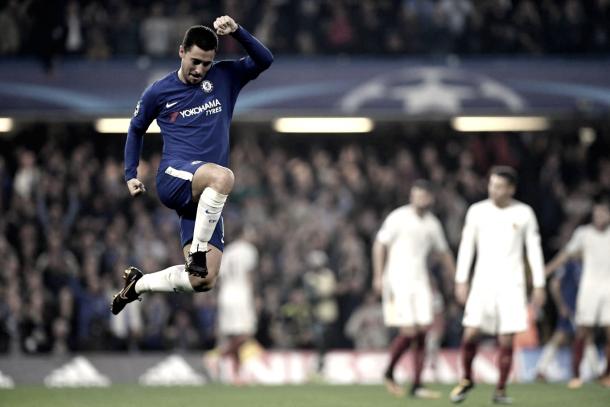Eden Hazard celebra un gol. Foto: Getty Images